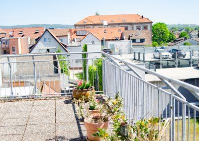 Der Blick von der Terrasse des Gästehaus Scheuermann