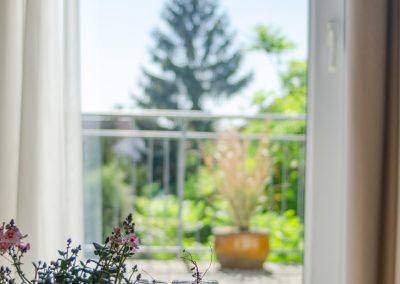 Ein Blick aus dem Fenster des Gästehaus Scheuermann