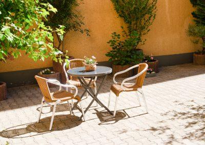 Das Gästehaus Scheuermann in Walldorf hat einen wunderschönen Hof