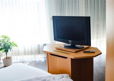 Zimmer mit Fernseher im Gästehaus Scheuermann